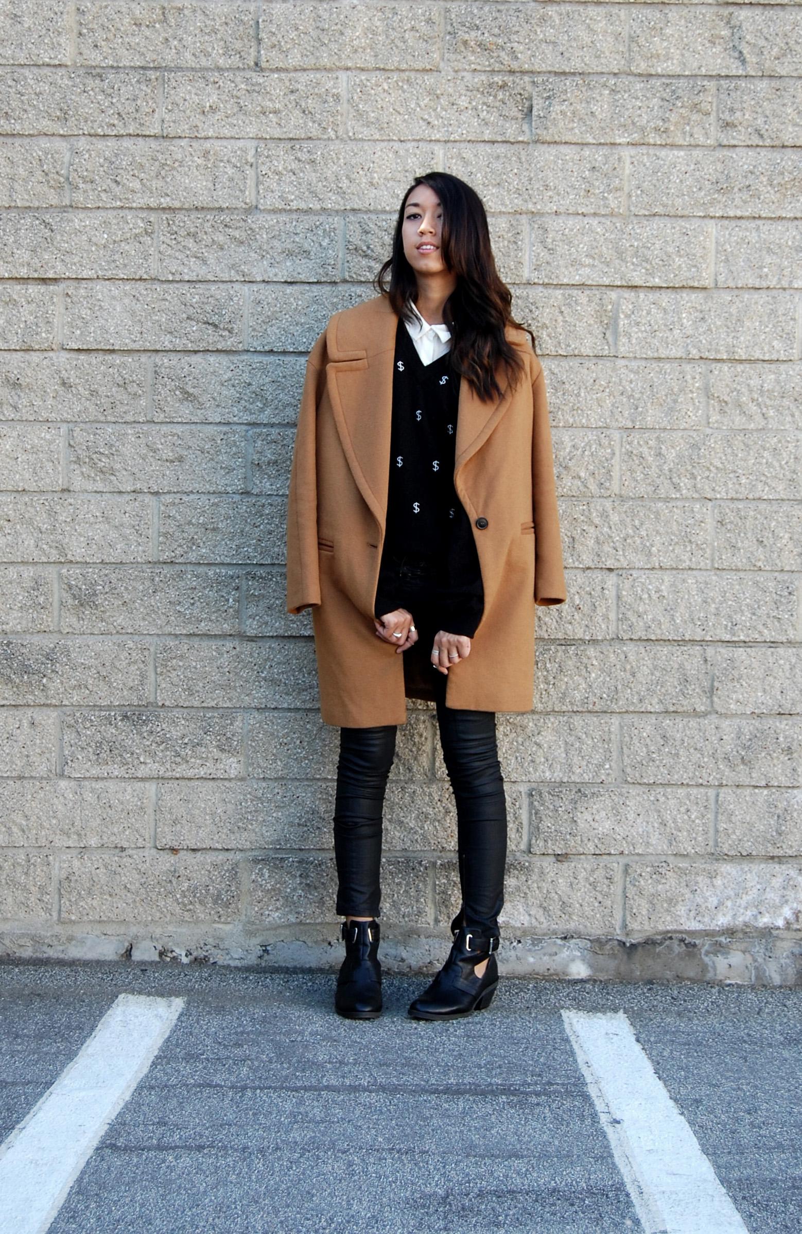 87abc782 Zara Camel Coat